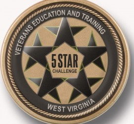 5 Star Challenge Coin WV