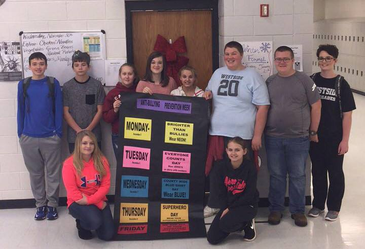 Student Success Society members at Westside High School in Wyoming County
