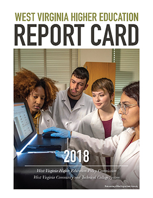 An image of the cover of the 2018 Higher Education Report Card.