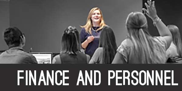 Finance and personnel section header image